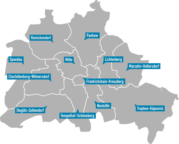 Berliner Bezirke (Stadtplan)